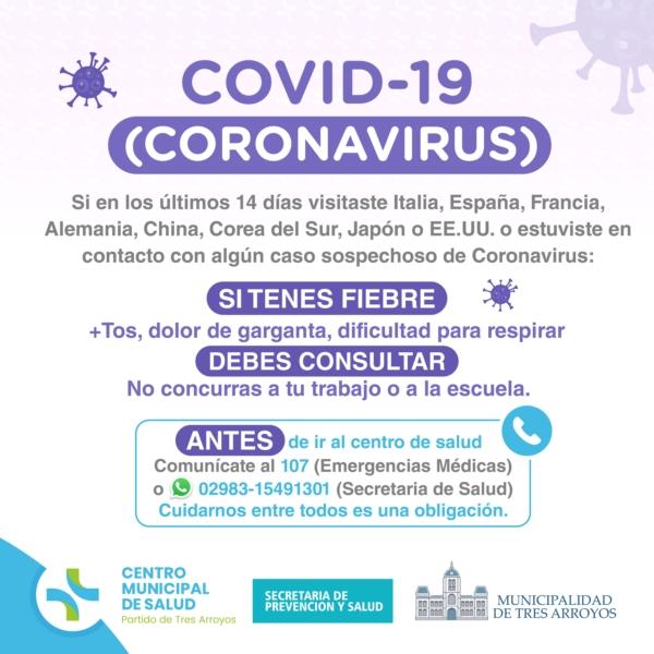 Photo of Medidas de prevención ante el Coronavirus difundidas por el Municipio