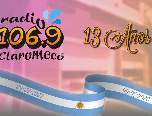 ¡Felices 13 años, 106.9 Radio Claromecó!