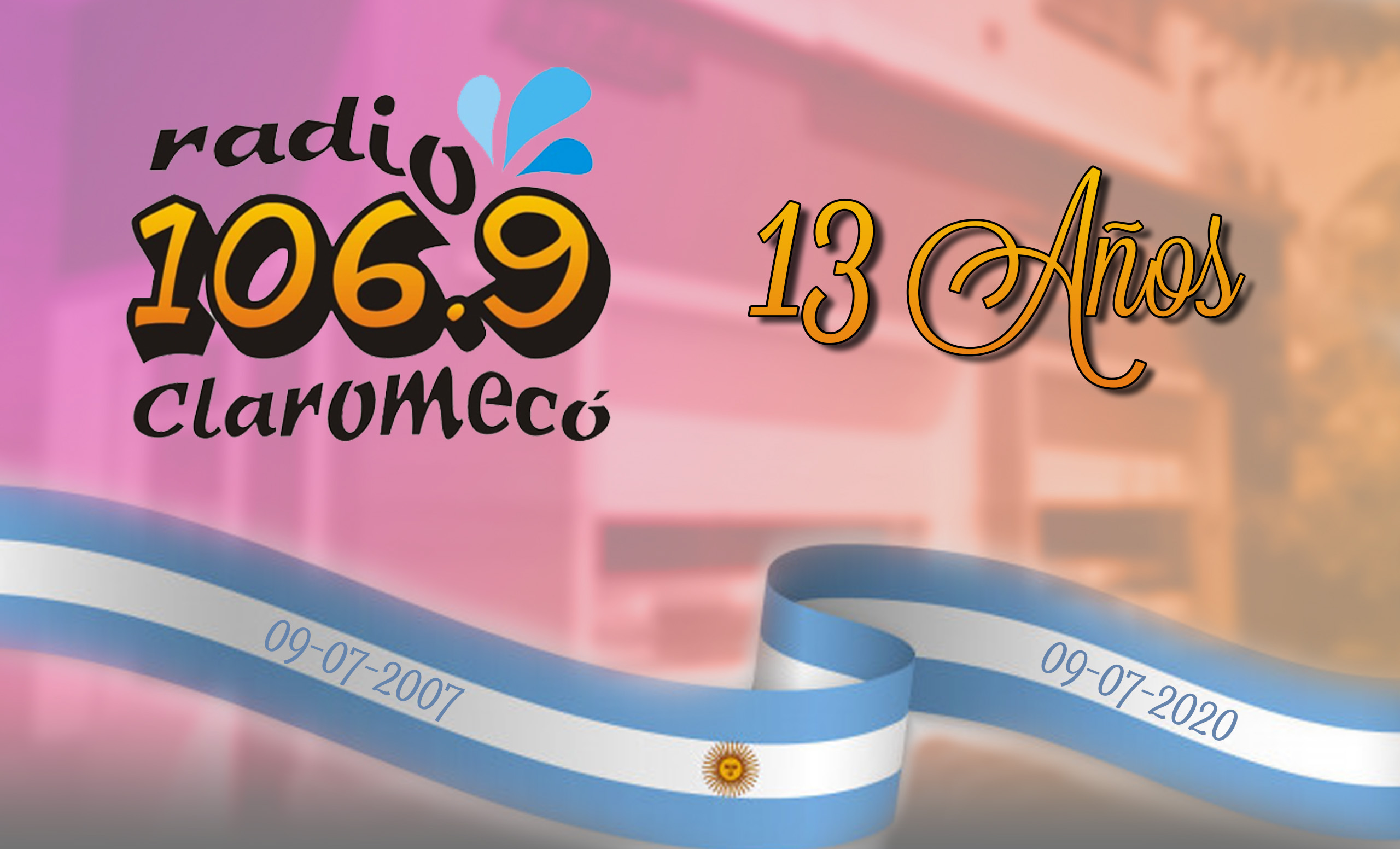 Photo of ¡Felices 13 años, 106.9 Radio Claromecó!