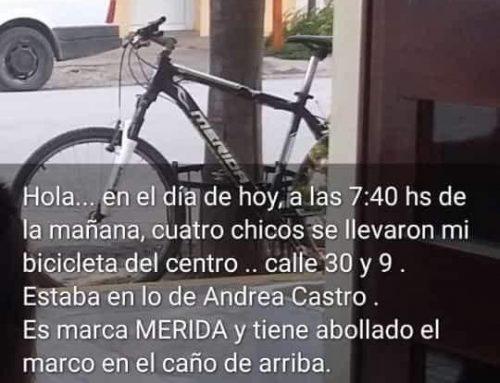 Se llevaron una bicicleta de calle 30 y 9