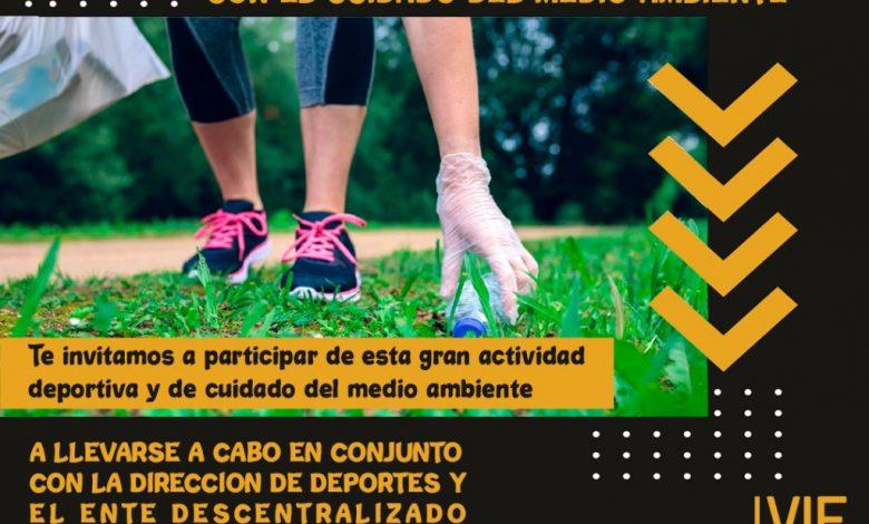 Photo of Deportes y el Ente Descentralizado invitan a desarrollar Plogging