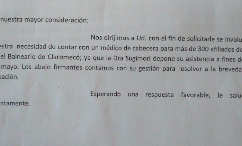 Photo of El Centro de Jubilados junta firmas por un médico de cabecera