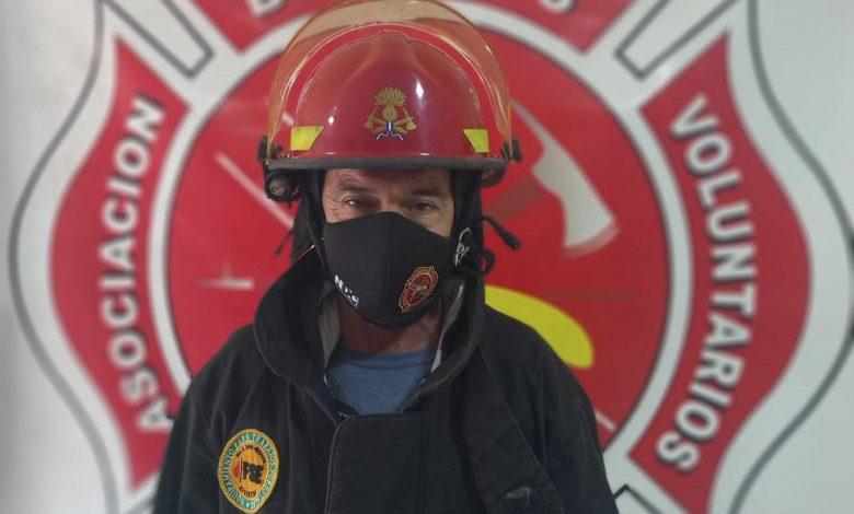 """Photo of Claudio Alcodoy: """"El fallecimiento de mi padre y el incendio del vivero me motivó a ser bombero"""""""
