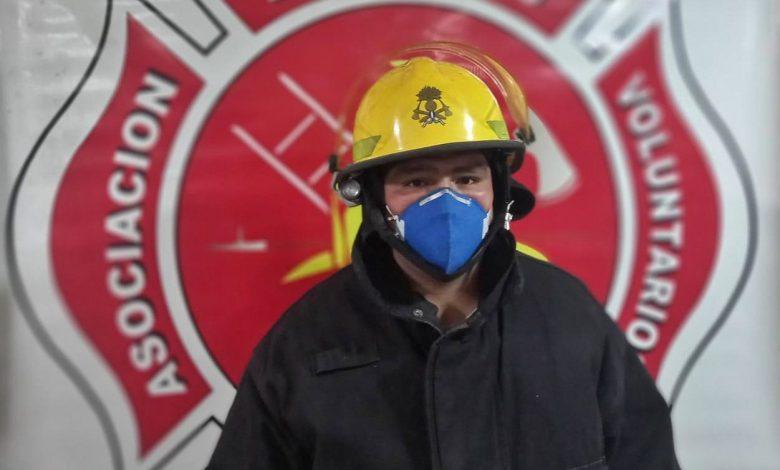 """Photo of Emanuel Merlo: """"un civil y un bombero viven realidades diferentes, en la nuestra sus vidas están primero"""""""